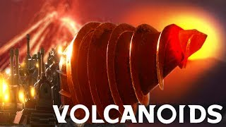 1000 DEGREES HUGE DRILL CAN GO INTO THE GROUND! Volcanoids Survival Game! Episode 01