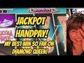 JACKPOT-HANDPAY- MY BEST WIN ON DIAMOND QUEEN