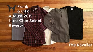 August Frank and Oak Hunt Club Select Crate Review 2015