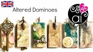 Altered Domino  D Y Tutorial  Decoupage and Resin  Kit Cernit Finish Glass