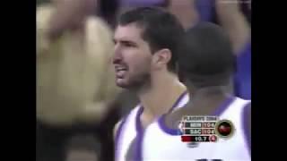 Peja Stojakovic 29 Points 3 Ast Vs. Timberwolves, 2004 Playoffs Game 3.