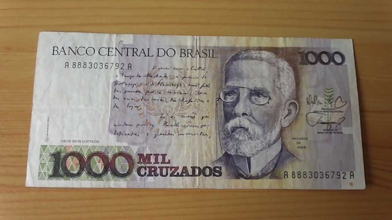 1.000 Mil Cruzados - Banknote oft the Banco central do Brasil - YouTube