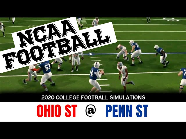 Ohio State vs Penn State 2020 NCAA Football Simulation