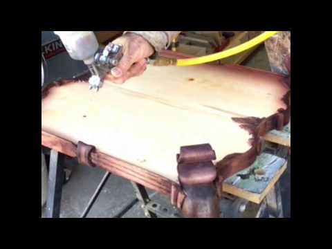 Creating shades with spray staining