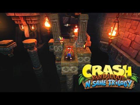 Crash Bandicoot N. Sane Trilogy - Gameplay de Temple Ruins al 100%