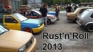 rust n roll 2013 parkplatz beim eisstop ausfahrt durch pneck