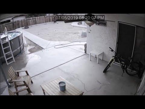 Earthquake Shaking Seen in Ridgecrest Home's Surveillance Videos