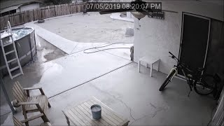 Earthquake Shaking Seen in Ridgecrest Home39s Surveillance Videos