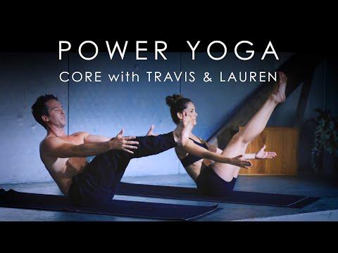 "12min. Power Yoga ""CORE"" ABS WORKOUT with Travis Eliot & Lauren Eckstrom – Inner Dimension TV"
