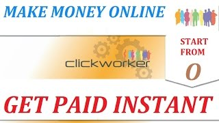 Hello brothers, new nice opportunity for making money online, what is called clickworker.com, its already long time in the internet but right now access open...