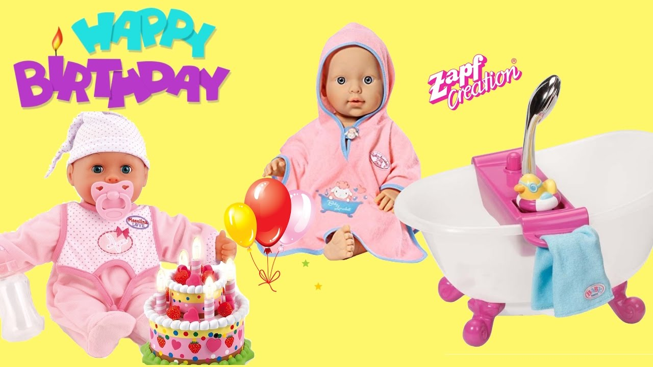 Laugh Amp Cry Baby Doll Happy Birthday Party Baby Annabell