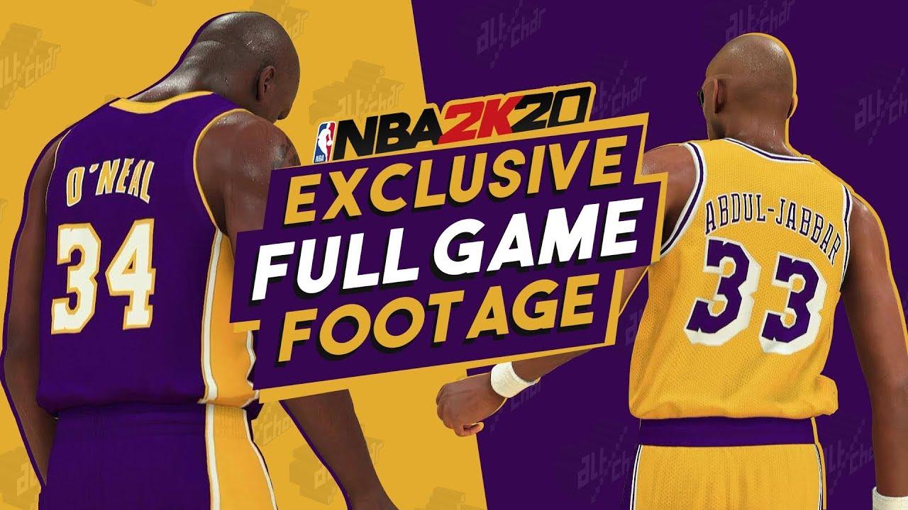 big sale 07913 5100f NBA 2K20 Official Gameplay - 00-01' vs 86-87' LA Lakers (CLASSIC TEAMS,  FULL GAME)