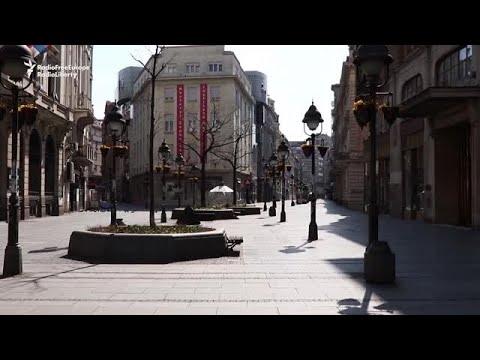 Serbian Weekend Curfew Turns Belgrade Into Ghost City