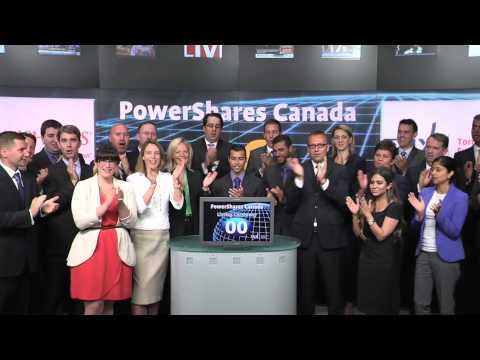 PowerShares Canada opens Toronto Stock Exchange, July 21, 2014.