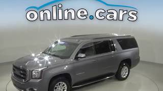 A10731TR Used 2018 GMC Yukon XL SLT 4WD Gray SUV Test Drive, Review, For Sale