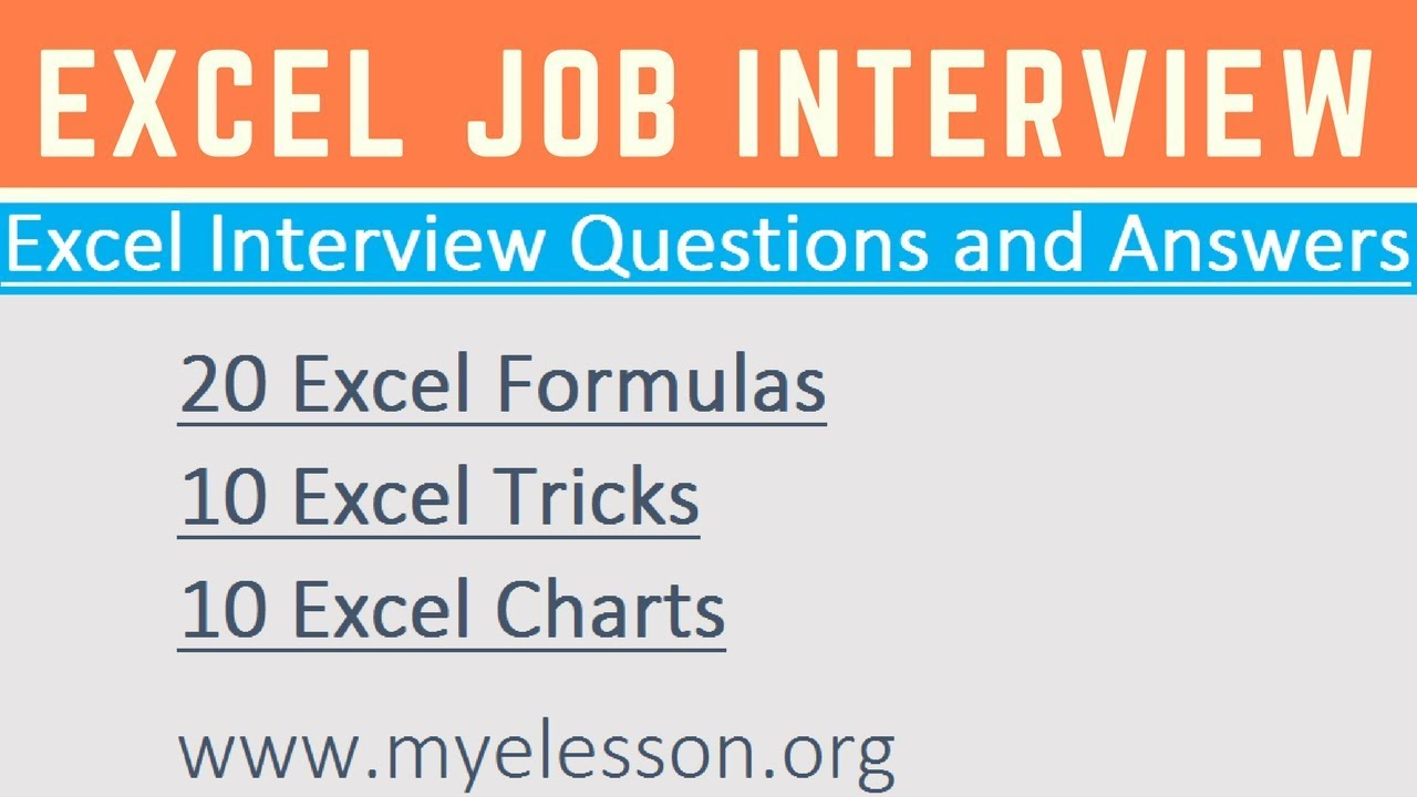 Excel interview questions answers youtube excel interview questions answers thecheapjerseys Gallery
