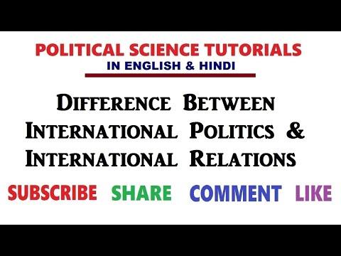 Difference between International Politics & International Relations