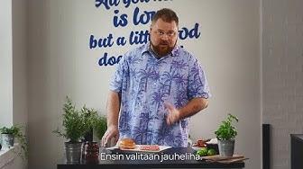 Akseli Herlevi & Valion burgerkoulu | Jakso 1: Hampurilaispihvin maustaminen ja muotoilu