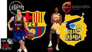 FULL GAME  BARCA VS GRAN CANARIA /FIRST GAME LEB PLATA 2020/2021/VICTORIA PARA EL GRAN CANARIA 85/86