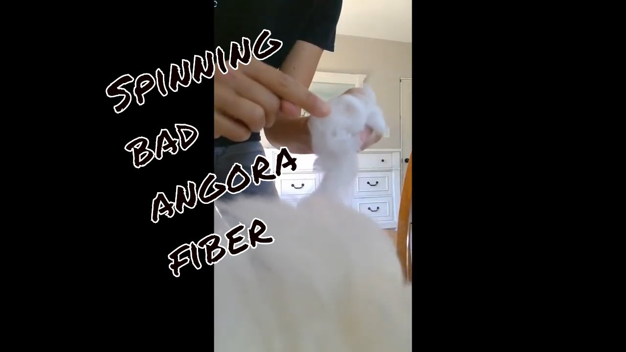 Spinning bad angora fiber video tutorial. The difference between bad and prime angora rabbit wool.