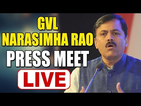 GVL Narasimha Rao Live Press Meet Live || GVL Press Meet Live || Bharat Today Live