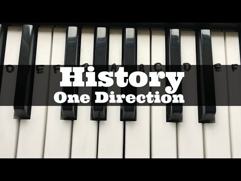 History - One Direction | Easy Keyboard Tutorial With Notes (Right Hand)