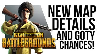 Battlegrounds NEW MAP LEAK + Brendan Greene says PUBG is NOT GOTY!?