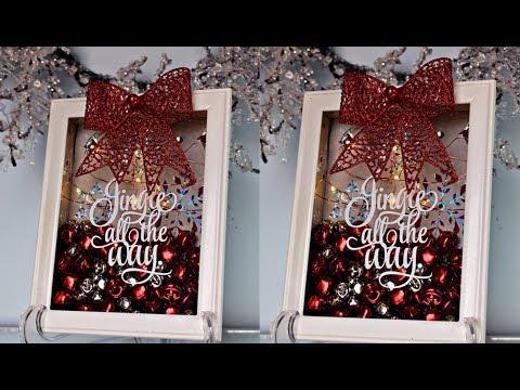 DIY | DOLLAR TREE | JINGLE BELL CHRISTMAS SHADOW BOX DECOR #2