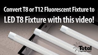 T12 or T8 Fluorescent fixture to LED T8 lighting retrofit from TLS