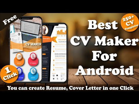 CV Maker App For Pc - Download For Windows 7,10 and Mac