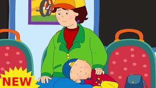 Funny Animated cartoons Kid | Caillou on the Train | WATCH ONLINE | Cartoon for Children