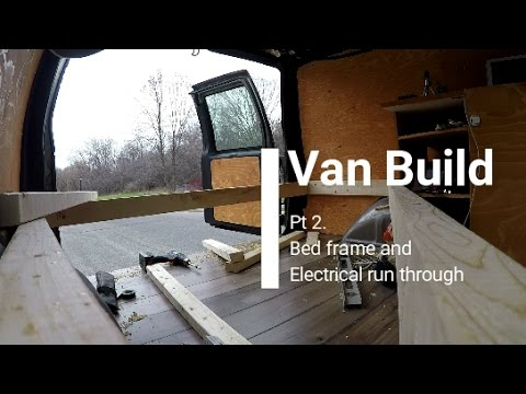 Camper Van Conversion Build Pt2 BED BUILD ELECTRIC SYSTEM Life GMC Safari