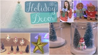 Diy Holiday Room Decorations // Winter Home Decor - Tulle Christmas Tree & More!