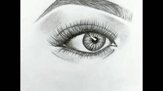 Eye sketch step by step