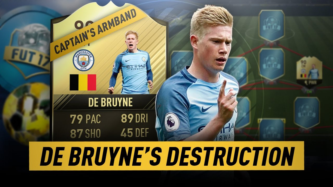 Fifa 17 De Bruyne 39 S Destruction Fut Draft Youtube