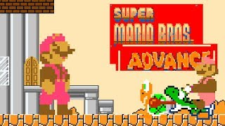 Super Mario Bros. Advance • Super Mario World ROM Hack (Longplay/Playthrough)