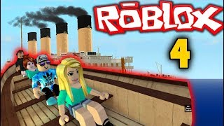 HE THROWS US OUT OF THE TITANIC.. ROBLOX TITANIC ODC 4