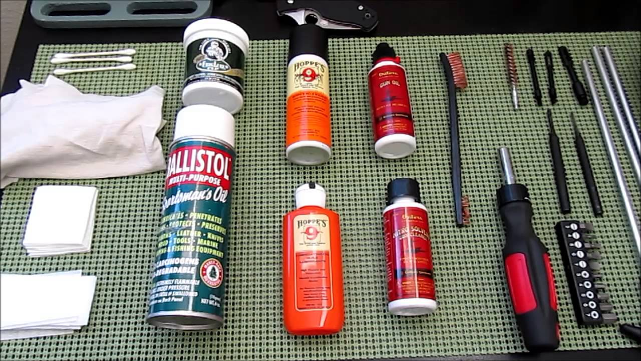 basic gun cleaning tools and supplies youtube