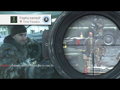 CRAZY TROPHY/ACHIEVEMENT! KILLING MAKAROV IN MODERN WARFARE REMASTERED!! (MWR Trophy GUIDE)
