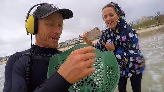 Chasing GOLD Storm Treasures, Found 3 Diamond Rings Bondi Beach (owners reaction) Metal Detecting