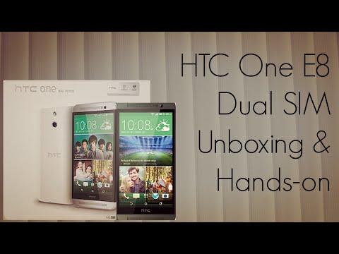 HTC One E8 Dual SIM Unboxing & Hands-on PhoneRadar