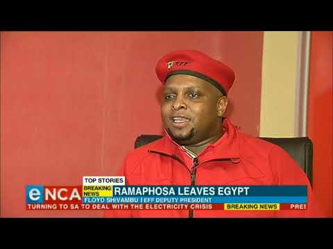 Cyril Ramaphosa has yielded to calls for him to come back and deal with the Eskom crisis - eNCA