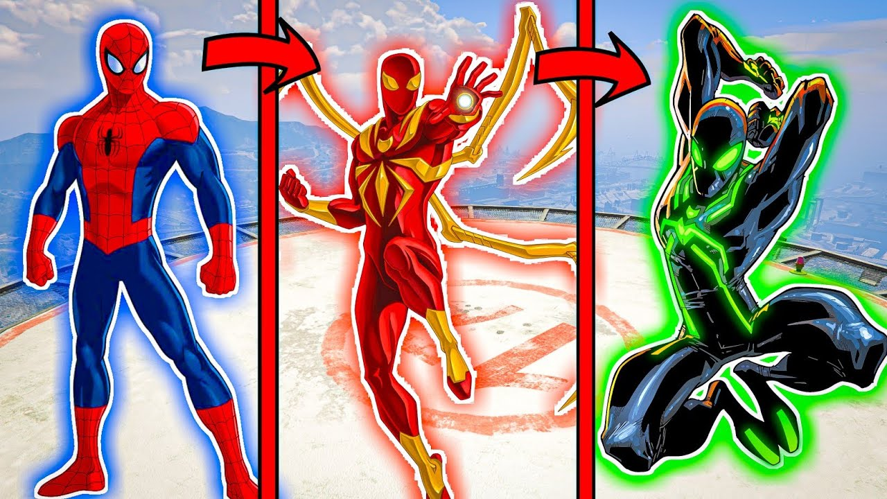 Iron Spider Man Upgraded into Future Iron SpiderMan in GTA5 [Hindi]   GTA5 AVENGERS   A.K GAME WORLD