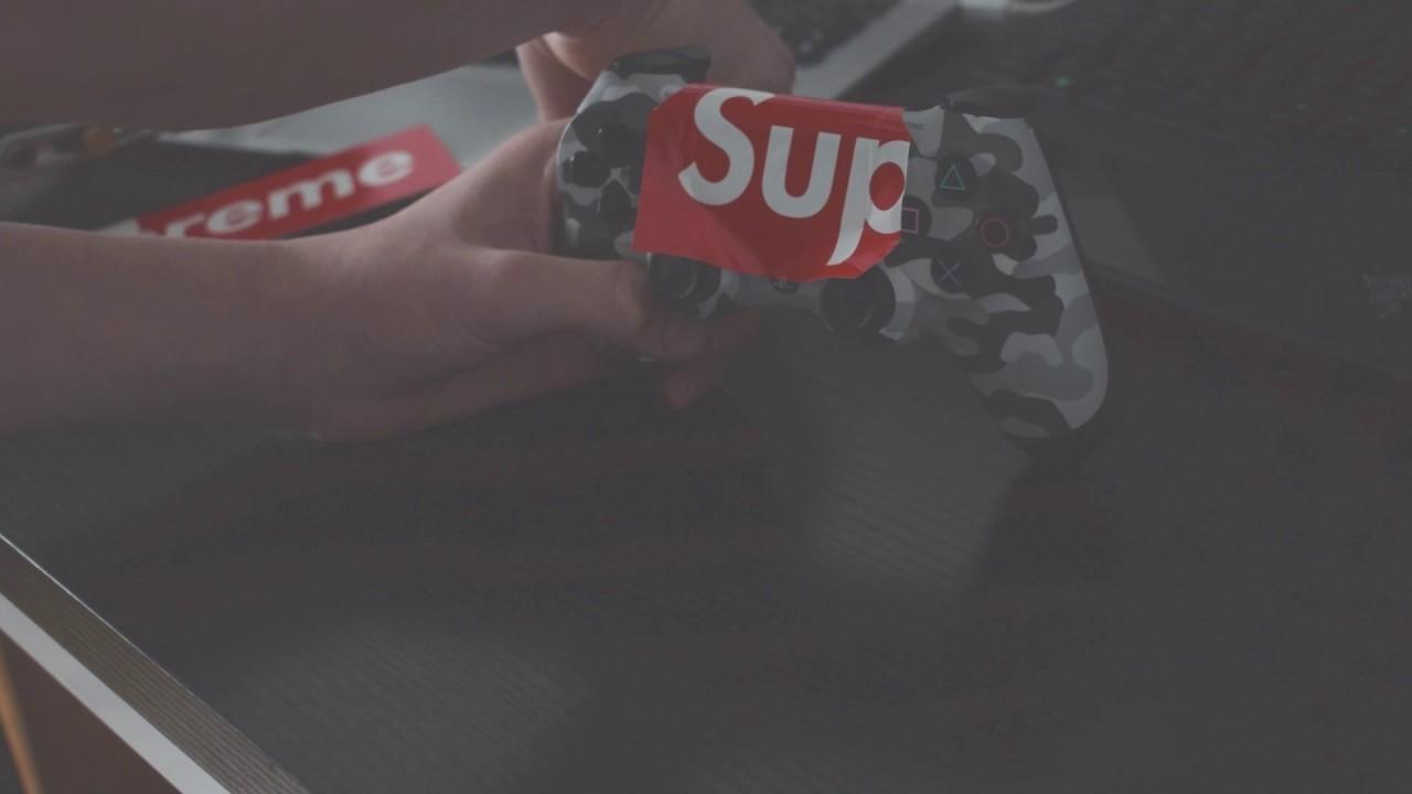 CUSTOM SUPREME PS4 CONTROLLER - (DIY) - YouTube