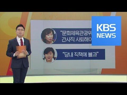 민주 손혜원-서영교 의원 조치 여론 잠재울까? / KBS뉴스(News)