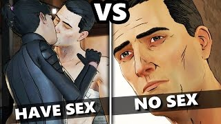 Telltale Batman Episode 3 - HAVE SEX WITH CAT WOMAN vs DON'T HAVE SEX - (Batman EP3 Choices)