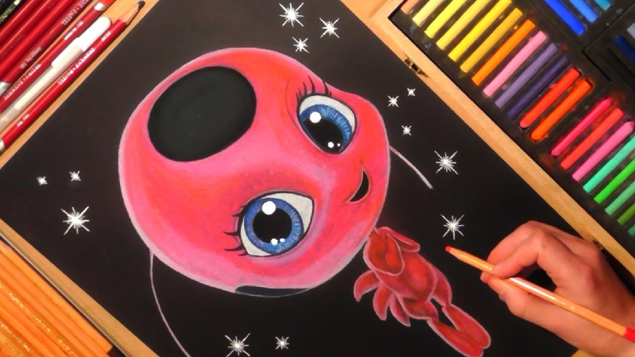 Drawing Marinette's Kwami (Tikki) from Miraculous: Tales ...
