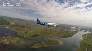 Первый пробный полет нового российского лайнера МС-21