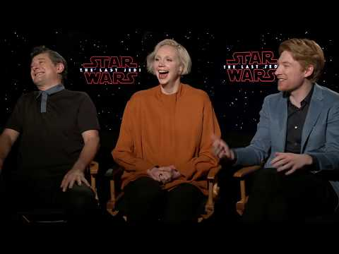 Download Youtube: Star Wars The Last Jedi Gwendoline Christie & Domhnall Gleeson Interview