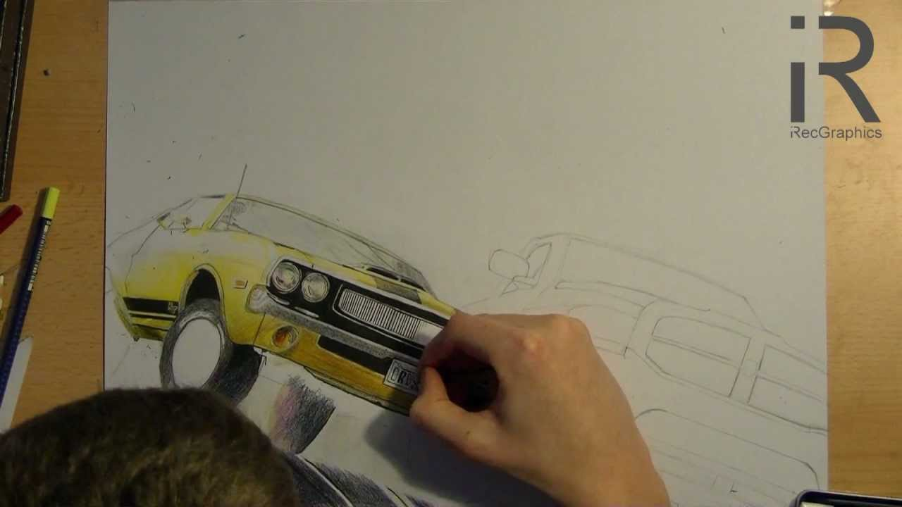 Drawing A Dodge Challenger R T Amp Dodge Ram Driver San